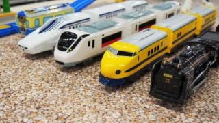 プラレールの電車の写真。